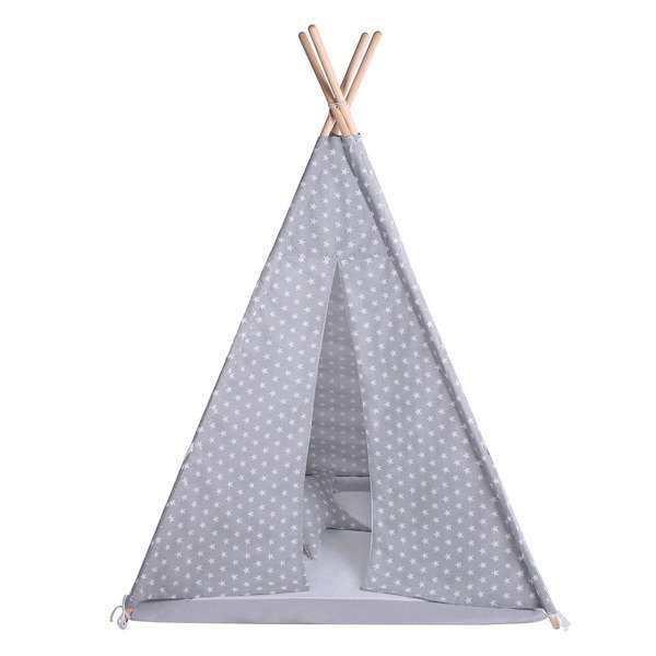 Lulando Namiot TIPI białe gwiazdki + biały