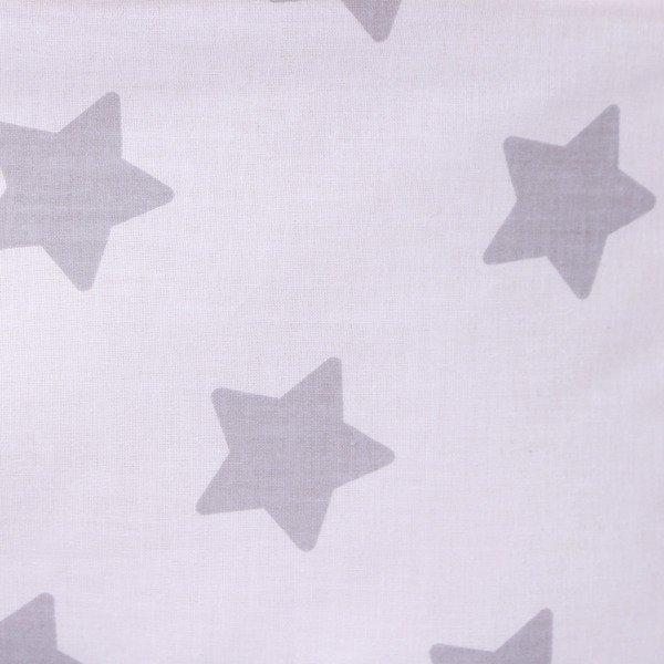 Lulando Kocyk MINKY 100x140 mięta-biały w szare gwiazdki