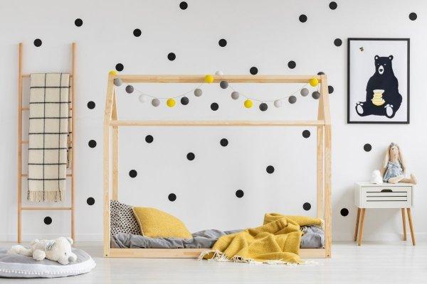 Łóżko dziecięce drewniane DOMEK Mila NM różne rozmiary