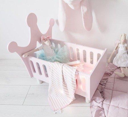 Łóżko dla lalek korona