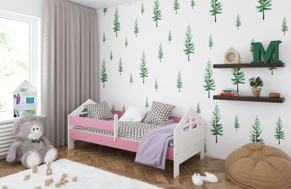 łóżko-dziecięce-ala-różowe