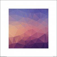 Mozajka trójkątów - plakat premium