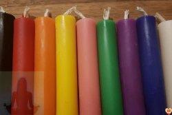 Świece INTENCYJNE do RYTUAŁÓW wykonane ręcznie z najwyższej jakości wosku pszczelego (wybierz kolor)