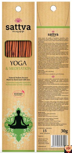 SATTVA INSENCE YOGA & MEDITATION 30G EKO