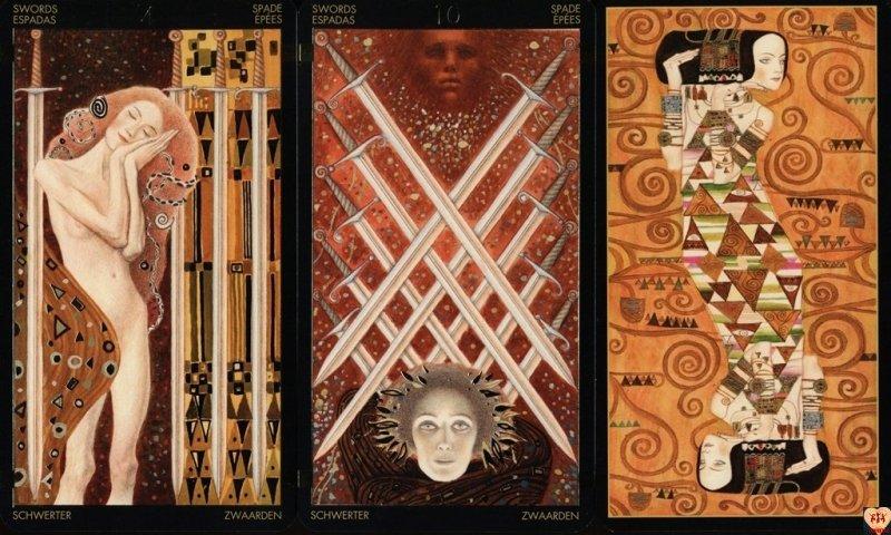Golden Tarot of Klimt - Mini, instr.PL