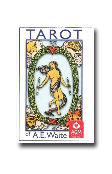 Rider Waite Tarot standard, wersja angielska, instrukcja PL, AGM