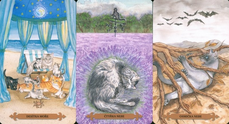 Mystical Cats Tarot wersja po czesku, instr.pl