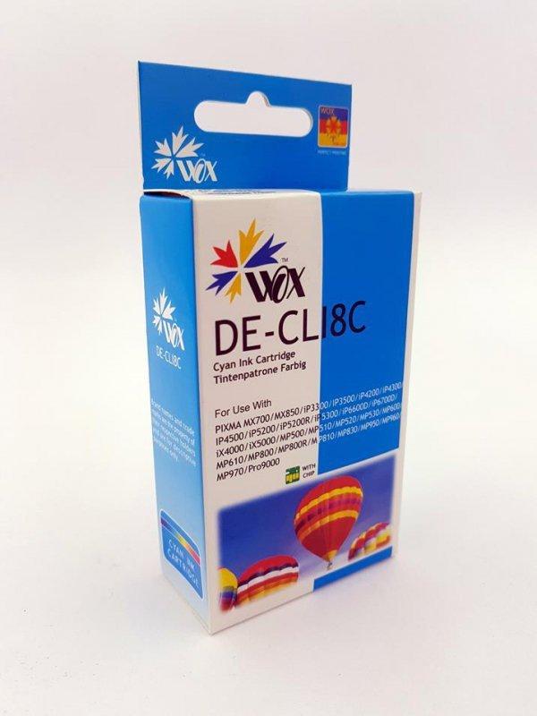Tusz Wox Cyan Canon CLI 8C z chipem zamiennik CLI8C
