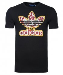 Adidas Originals koszulka t-shirt czarna logo Pizza