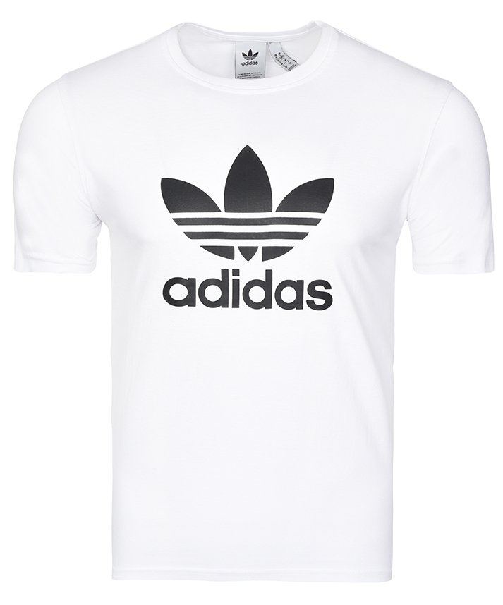 Adidas Originals biała koszulka t-shirt męski Trefoil CW0710