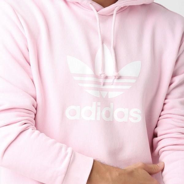 Adidas Originals Trefoil różowa męska bluza z kapturem DT7966