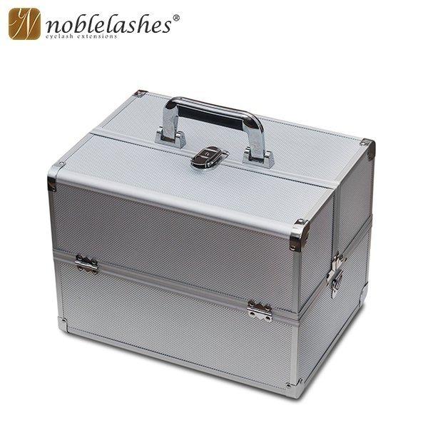 Kuferek kosmetyczny srebrny duży