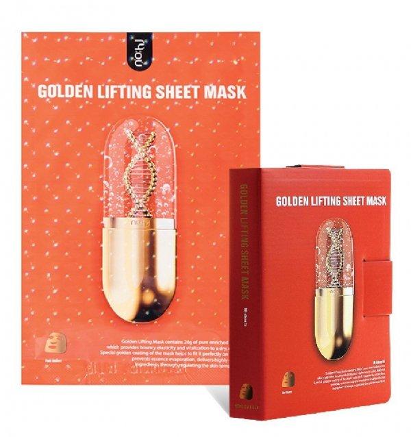 Maska maseczka w płacie- złoty lifting