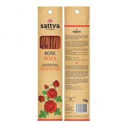 Sattva Naturalne Indyjskie Kadzidła Wytwarzane Ręcznie Z Miłością Róża 15szt
