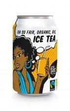 NAPÓJ GAZOWANY O SMAKU HERBATY ICE TEA FAIR TRADE BIO 330 ml (PUSZKA) - OXFAM