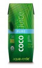 AQUA VERDE bio woda kokosowa NATURALNA 330ml