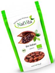 Bio Kakao Raw Całe Ziarna 500 g Natvita