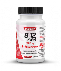 Witamina B 12 1000µg B-Active Max+ 60 kaps Pharmovit