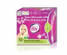 GENTLE DAY podpaski anionowe mini TEENS 12szt