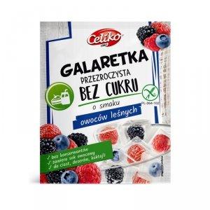 Galaretka przezroczysta bez cukru z owoców leśnych 14 g 2szt  Celiko
