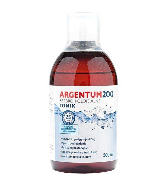 ARGENTUM 200 srebro koloidalne 25ppm TONIK 500ml