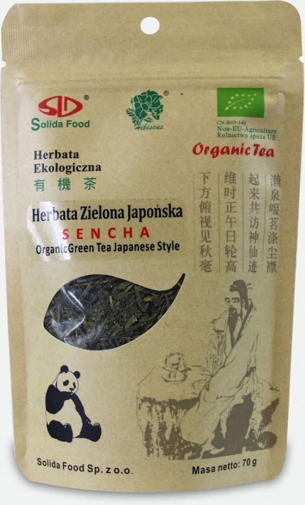 HERBATA ZIELONA SENCHA BIO 70 g - SOLIDA FOOD