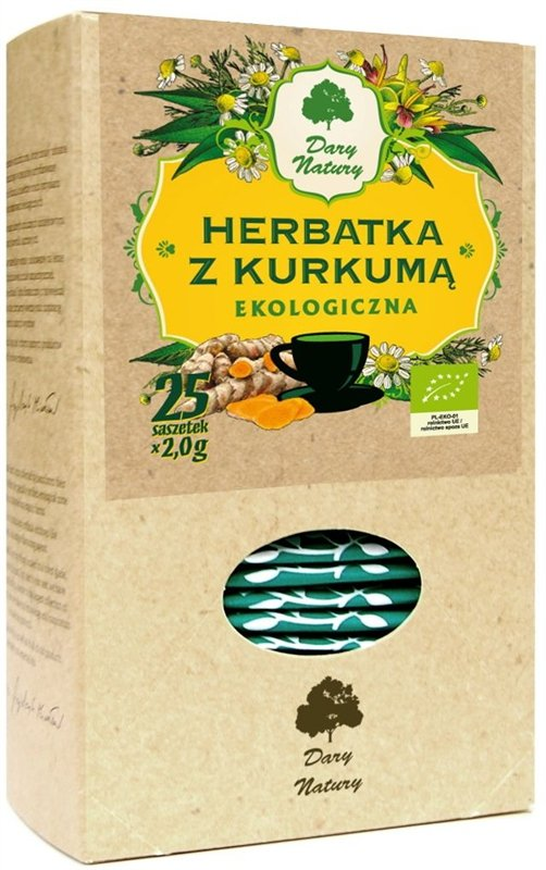 HERBATKA Z KURKUMĄ BIO (25 x 2 g) - DARY NATURY