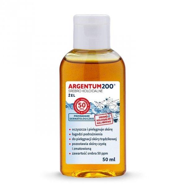 Argentum200 Srebro Koloidalne (50 ppm) - Żel do twarzy i rąk (50ml) Aura Herbals