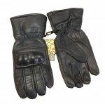 Skórzane rękawice taktyczne RS-798-13 - czarny