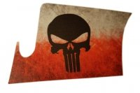 Naklejka - STICKERS MILITARY - Punisher Polska