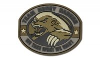 MIL-SPEC MONKEY - Morale Patch - Honey Badger - PVC - Desert