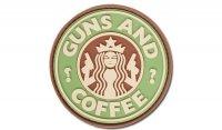 JTG - Naszywka 3D - Guns and Coffee - Multicam