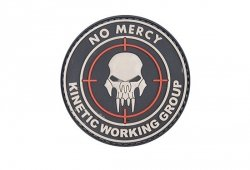 Naszywka 3D - NO MERCY – KINETIC WORKING GROUP - Black
