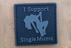 Naszywka  3D - I Support Single Mums