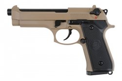 Replika pistoletu M92 (CO2) - tan