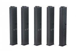Zestaw 5 magazynków 9mm do replik typu AR-15 - czarny