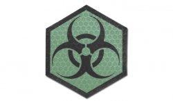Combat-ID - Naszywka Biohazard - Heksagon - Zielony - Gen I