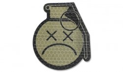 Combat-ID - Naszywka Sad Frag Grenade - Coyote Tan - Gen I