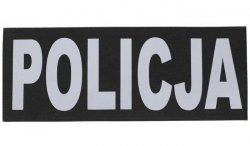 Combat-ID - Naszywka odblaskowa POLICJA na plecy - Czarny / Srebrny