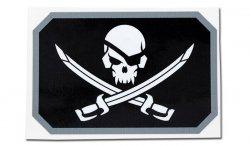 MIL-SPEC MONKEY - Naklejka - Pirateskull Flag