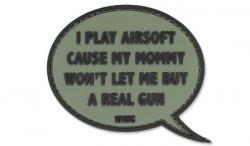 101 Inc. - Naszywka 3D - I Play Airsoft - Zielony