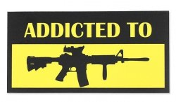 Combat-ID - Naklejka - Addicted to M4A1