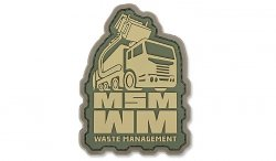 MIL-SPEC MONKEY - Morale Patch - Waste Management - PVC - Multicam