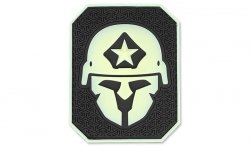 MIL-SPEC MONKEY - Morale Patch - Modern Spartan Large - PVC -GreenGlow
