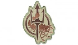 MIL-SPEC MONKEY - Morale Patch - Costa Ludus Trident EMB - Arid