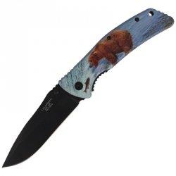 Herbertz - Nóż Hunter Motyw Niedźwiedzia 105mm (575512)