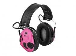 Ochronniki słuchu aktywne Peltor SportTac - zielono-różowe
