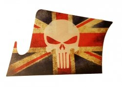 Naklejka - STICKERS MILITARY - Punisher UK
