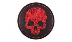 101 Inc. - Naszywka 3D - Fingerprint Skull - Czerwony