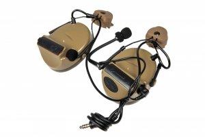 Zestaw słuchawkowy Z152 CII z adapterem do hełmów typu FAST - DE